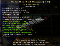 +8 NOREB COLD HEARTED DAGGER